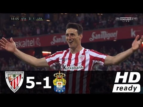Athletic Bilbao vs Las Palmas 5-1 - All Goals & Extended Highlights - La Liga 14/04/2017 HD