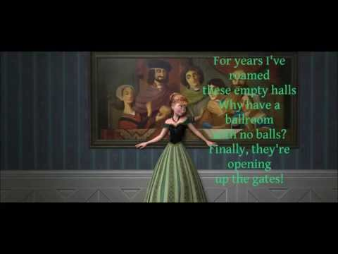 """For the First Time in Forever (w/ lyrics) From Disney's """"Frozen"""""""