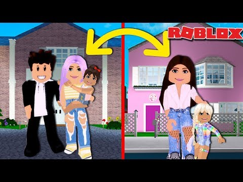 WE DID A FAMILY SWAP FOR 24 HOURS   Roblox Roleplay  Bloxburg Family