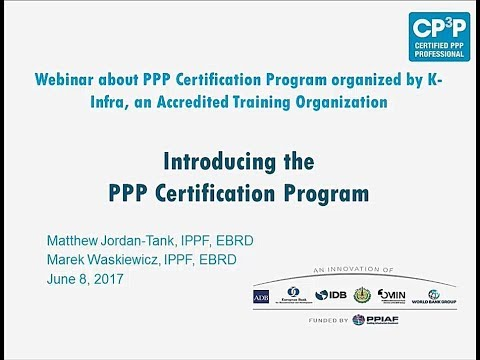 Webinar focused on EMENA, Introducing PPP Certification Program