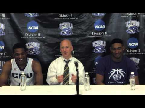 CNU Post Game Press Conference vs. NYU - March 5, 2016