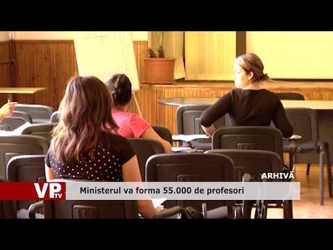 Ministerul va forma 55.000 de profesori