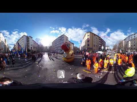 Der Rosenmontag 2018 in Mainz in 360 Grad