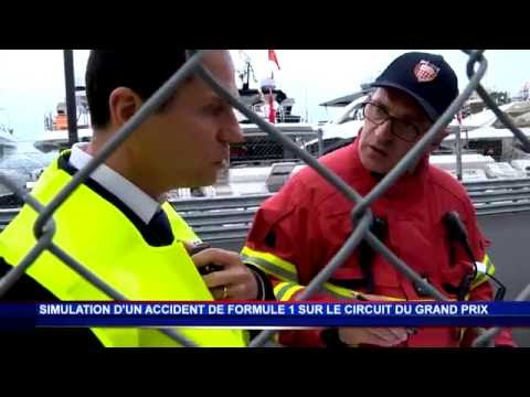Simulation d'un accident au Grand Prix de Monaco de F1