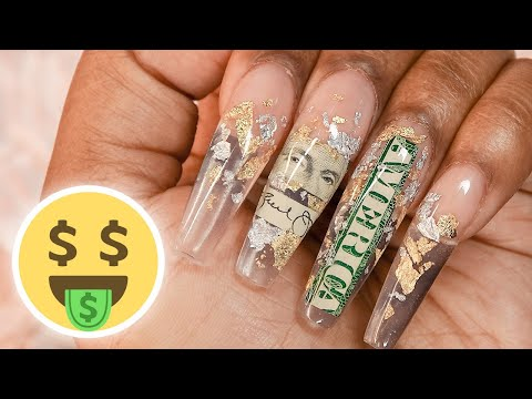 Gel nails - I Put Money in My Nails with Polygel - Money Nails