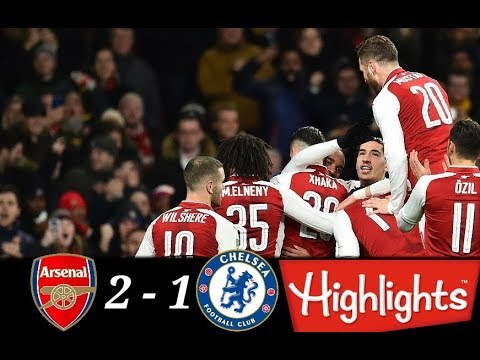 Arsenal vs Chelsea 2-1 - EFL Cup - Highlights - 25/01/2018  - HD