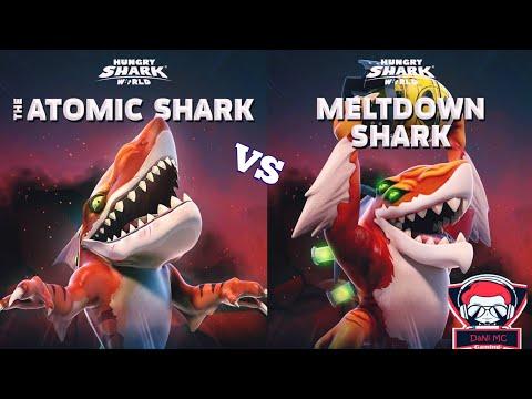 NEW MELTDOWN vs ATOMIC SHARK - Hungry Shark World DaNi MC Gaming