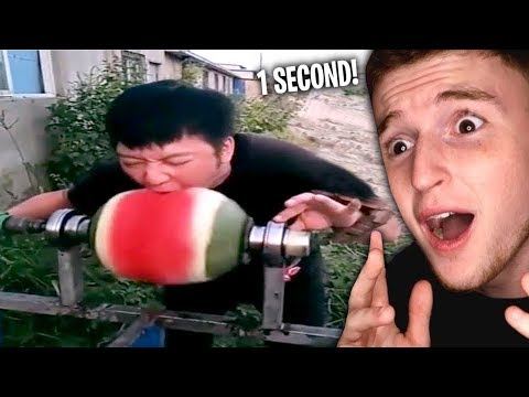 He Ate This Watermelon In ONE SECOND.. (Fast Eaters)