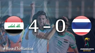 Mohanad Adbulraheem scored all four goals as Iraq picked up their first points of the Russia 2018 Asian Qualifiers Third Round after a 4-0 win over Thailand ...