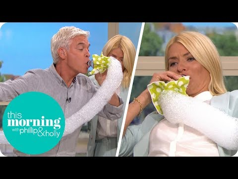 Holly and Phillip Go Crazy Making Bubble Snakes | This Morning