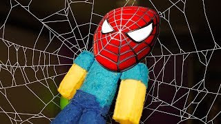 MINECRAFT PLUSHY ADVENTURE - STEVE BECOMES SPIDERMAN!