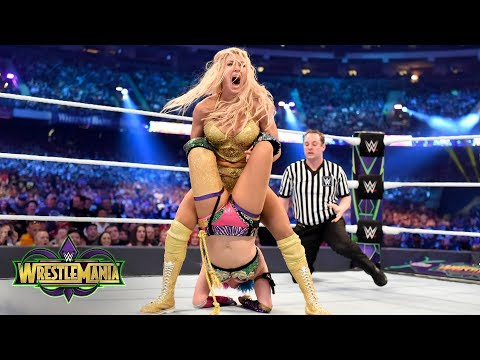 Charlotte Flair and Asuka fight tooth-and-nail for the SmackDown Women's Title: WrestleMania 34