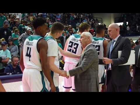 THI TV: Roy Williams & C.B. McGrath Embrace After UNC's Win Over UNCW