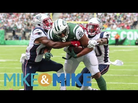 Mike & Mike argue controversial call that cost Jets touchdown against Patriots | Mike & Mike | ESPN (видео)