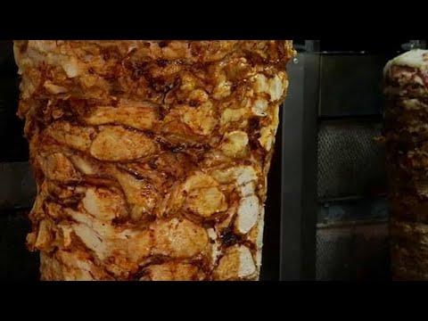 Le kebab sur le gril en Europe