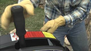 DR RapidFire Log Splitter handle being grabbed