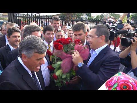 Victor Ponta la inaugurarea grădiniţei din Dumbrăveni, Suceava - 14 septembrie 2014