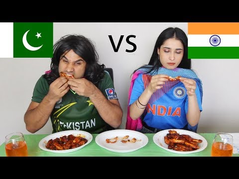 Pakistan vs India HOT WING CHALLENGE! | Nasreen | Peri | Rahim Pardesi