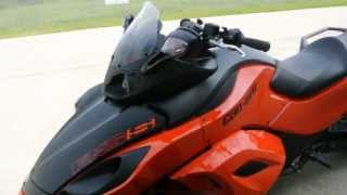 7. 2012 Can Am Spyder RSS SM5 in Orange and Flat Black