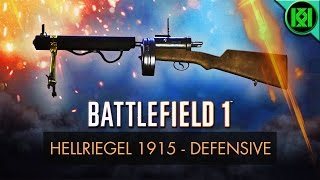 Battlefield 1 (BF1): Here's my Hellriegel 1915 'Defensive' Guide/Review, including info, tips for using it best, stats + Standschütze Hellriegel 1915 Defensive Gameplay. Hellriegel 1915 Defensive unlock guide included. BF1 (PS4 Pro Gameplay)For more information on the Hellriegel 1915 real life history and 'Factory' variant stats, check out the other 'Hellriegel 1915 Factory' review on my channel.Battlefield 1: Hellriegel 1915 Defensive Review (Guide)  BF1 Hellriegel Defensive GameplayStats Reference: http://symthic.com/How to unlock Hellriegel Defensive:Hellriegel 1915 'Defensive' Variant has a bipod, optical sights and an extended 120 round magazine, it can be unlocked after reaching assault rank 10, and by taking down 300 people with the Hellriegel factory, and 25 with anti-tank mines. Hellriegel 1915 Defensive BF1 unlock (Best tips) (PS4 Pro Gameplay)Facebook:  https://www.facebook.com/kriticalkrisTwitter:  https://twitter.com/KriticalKrisMusic:Intro:Krale - Frontier (ft. Jasmina Lin & Jay Christopher) [NCS Release]http://www.youtube.com/watch?v=pGMojZB0Lm0Check out my channel: KriticalKris Channel : https://www.youtube.com/channel/UC5d9SQiZzg7qFcqF0xTOFXQ/feedhttps://youtu.be/BiFDSoxyG3Q