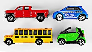 Learning Colors with Colorful Street Vehicles for Kids Learn Colours Toy Cars & Trucks by Hot Wheels, Matchbox, Tomica トミカ, Disney Cars  - Organic Learning - Educational Videos for Kids.  This fun educational video teaches young children eleven individual colors or colours (Red, Green, Yellow, Blue, Orange, Purple, Pink, Brown, Black, Gray, and White) and features colorful street vehicles, toy cars, and scale model cars for kids made by Hot Wheels, Matchbox, Disney Cars, Mattel, Siku, and Tomica Tomy トミカ.Please take a moment to LIKE our kid friendly video, SHARE it with family & friends, and SUBSCRIBE to our Organic Learning channel… Your help and support are greatly appreciated!Subscribe to our YouTube Channel:  http://www.youtube.com/subscription_center?add_user=OrganicLearning Follow us on Twitter:  https://twitter.com/OrganicLearningFollow us on Instagram:  https://instagram.com/OrganicLearningOfficial Website:  https://OrganicLearning.com - Fun Toy Giveways, Coloring Downloads, & More.  This fun, educational, early learning video for kids uses colorful Hot Wheels, Matchbox, Siku, Disney Pixar Cars, and Tomica トミカ die-cast toy cars and trucks to teach young children about street vehicles, city vehicles, and other cars and trucks and learn about colors or colours.  In this family friendly educational video for kids, children will learn about a Red Pickup Truck - Chevy Silverado by Hot Wheels, Green Smart Car by Matchbox, Yellow School Bus by Siku, Blue Car - Fiat 500 Italian Police Car by Hot Wheels, Purple Train - Charlie the Tank Engine from Thomas and Friends by Mattel, Orange Monster Truck - Prowler by Hot Wheels, Pink Stock Car - Eugene Carbureski from the Disney Pixar Cars movie, Brown Toyota Land Cruiser by Matchbox, Black Convertible - 1956 Chevy Bel Air by Hot Wheels, Gray Trophy Truck - Ford F-150 Raptor by Hot Wheels, and a White Camper Van by Tomica Tomy トミカ. Have fun learning about more Colors or Colours and Street Vehicles as we continue this series