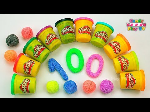 Learn To Count With Play Doh Numbers | 1 To 100 | Squishy Glitter Foam | Learn To Count For Children