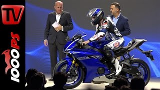 Video Yamaha Weltpremiere 2017 mit Valentino Rossi | R6, WR450F, T7 Concept, XSR 900 Abarth, T-Max MP3, 3GP, MP4, WEBM, AVI, FLV September 2017