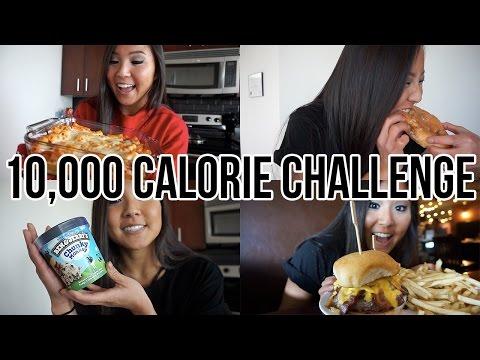 10,000 CALORIE CHALLENGE   GIRL VS.  FOOD