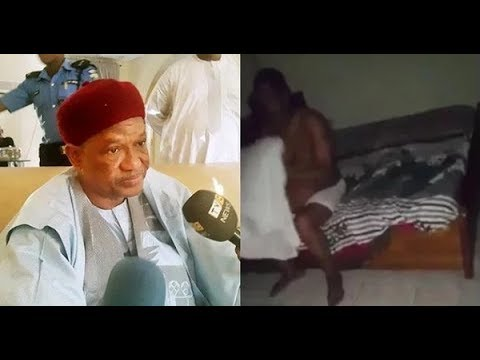 Ex-Yobe governor Ibrahim speaks after video of him with 2 ladies emerge