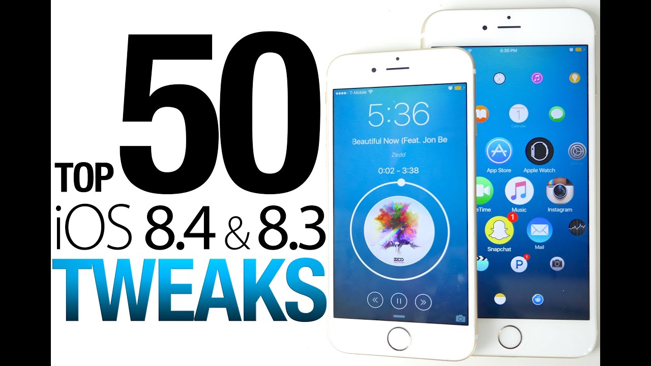 Top 50 iOS 8.4 & 8.3 Cydia Tweaks Of ALL Time – 8.4 Taig Jailbreak Compatible