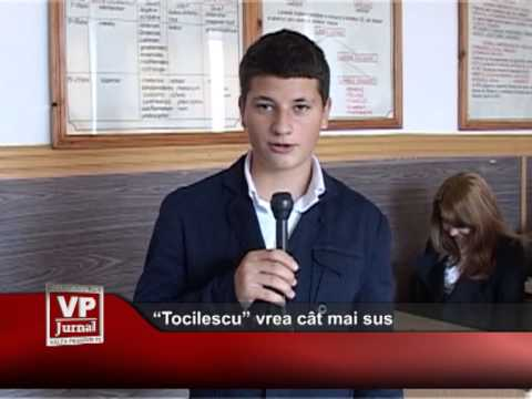"""""""Tocilescu"""" vrea cât mai sus"""