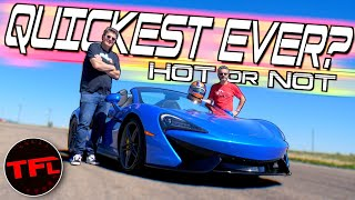 Does The 2020 McLaren 570S Spider Shatter The Hot Or Not Lap Record? Only One Way To Find Out! by The Fast Lane Car