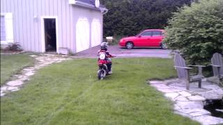 9. Learning How to Ride - First Time Kid - Suzuki DR-Z70