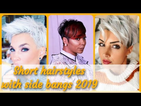 Short haircuts - 20 Top Beauty  short hairstyles with side bangs 2019