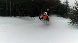 9. Ski-Doo Renegade Backcountry & Expedition Extreme ride in deep snow