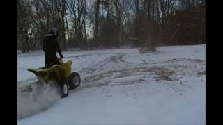 9. Suzuki Z250 Quadsport - Driving in the Snow