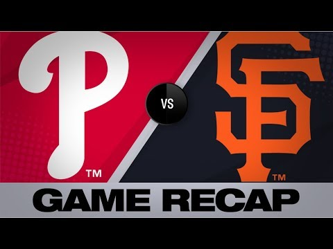Video: Pillar, Smith fuel Giants' 8th-inning rally | Phillies-Giants Game Highlights 8/11/19