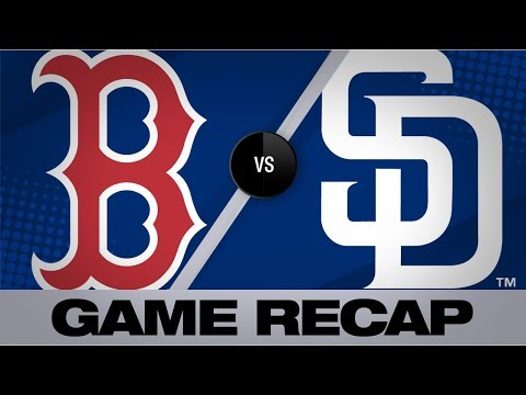Video: Machado sets Padres' record in 3-run 1st | Red Sox-Padres Game Highlights 8/25/19