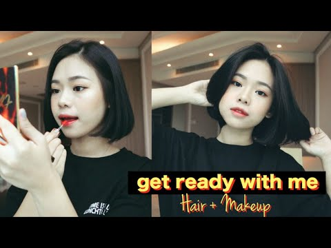 Short haircuts - Chill Get Ready With Me  Styling Short Hair + Makeup