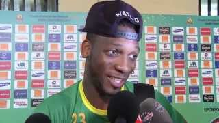 Interviews of Mali players after the match against Guinea (1-1). Orange Africa Cup of Nations, EQUATORIAL GUINEA 2015...