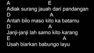 Boy Sandy - Rindu Di Awan Biru (Chord & Lyric)