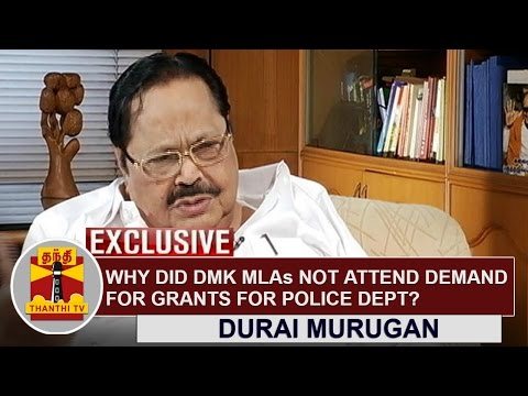 Why-did-DMK-MLAs-not-attend-demand-on-debate-for-grants-for-the-Police-Dept--Durai-Murugan-Answers