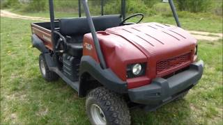 3. 2012 Kawasaki Mule 4010 4x4 PS EFI Maroon