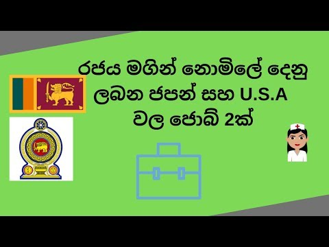 Jobs in United states and Japan for srilankans