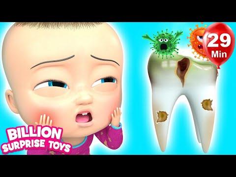 Tooth Song | BillionSurpriseToys Nursery Rhyme & Kids Songs (видео)