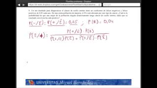 Umh2072 2013-14  Unidad 2 Conceptos De Probabilidad Y Test De Diagnóstico. Problema 8