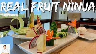 The REAL FRUIT NINJA | Cutting Skills Of A Master Sushi Chef
