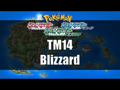 Pokemon Ruby/Sapphire/Emerald - Where to find TM14 Blizzard