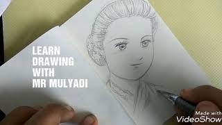 Download Video Cara menggambar wajah RA KARTINI versi ANAK SD | Drawing Indonesian ladies HERO MP3 3GP MP4