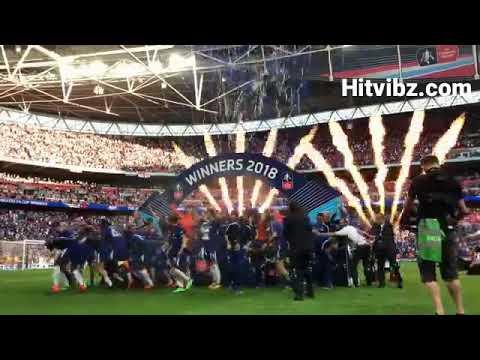 Chelsea celebrating FA Cup win